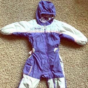 Columbia One-Piece Fleece Lined Ski Suit 3T
